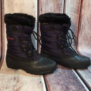 Jamie Navy Winter Boots w Removable Lining Size 8